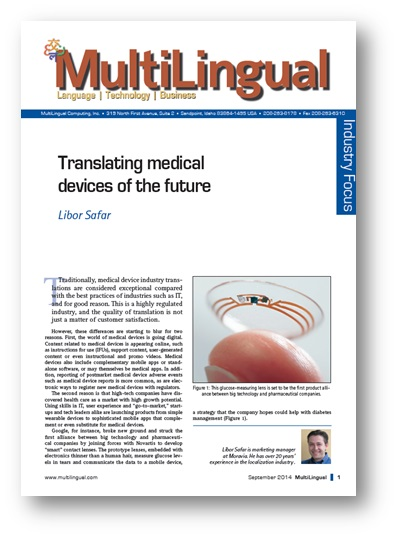 Translating Medical Devices of the Future