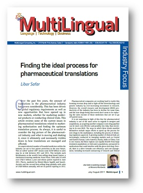 Finding the Ideal Process for Pharmaceutical Translations