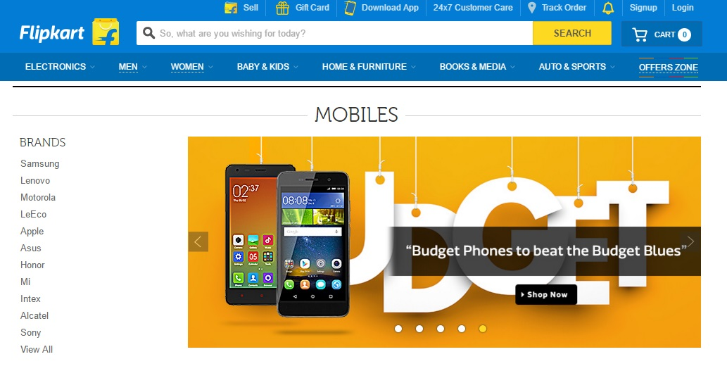 Flipkart - E-commerce Site Is in English Only