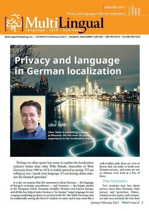 Privacy and Language in German Localization